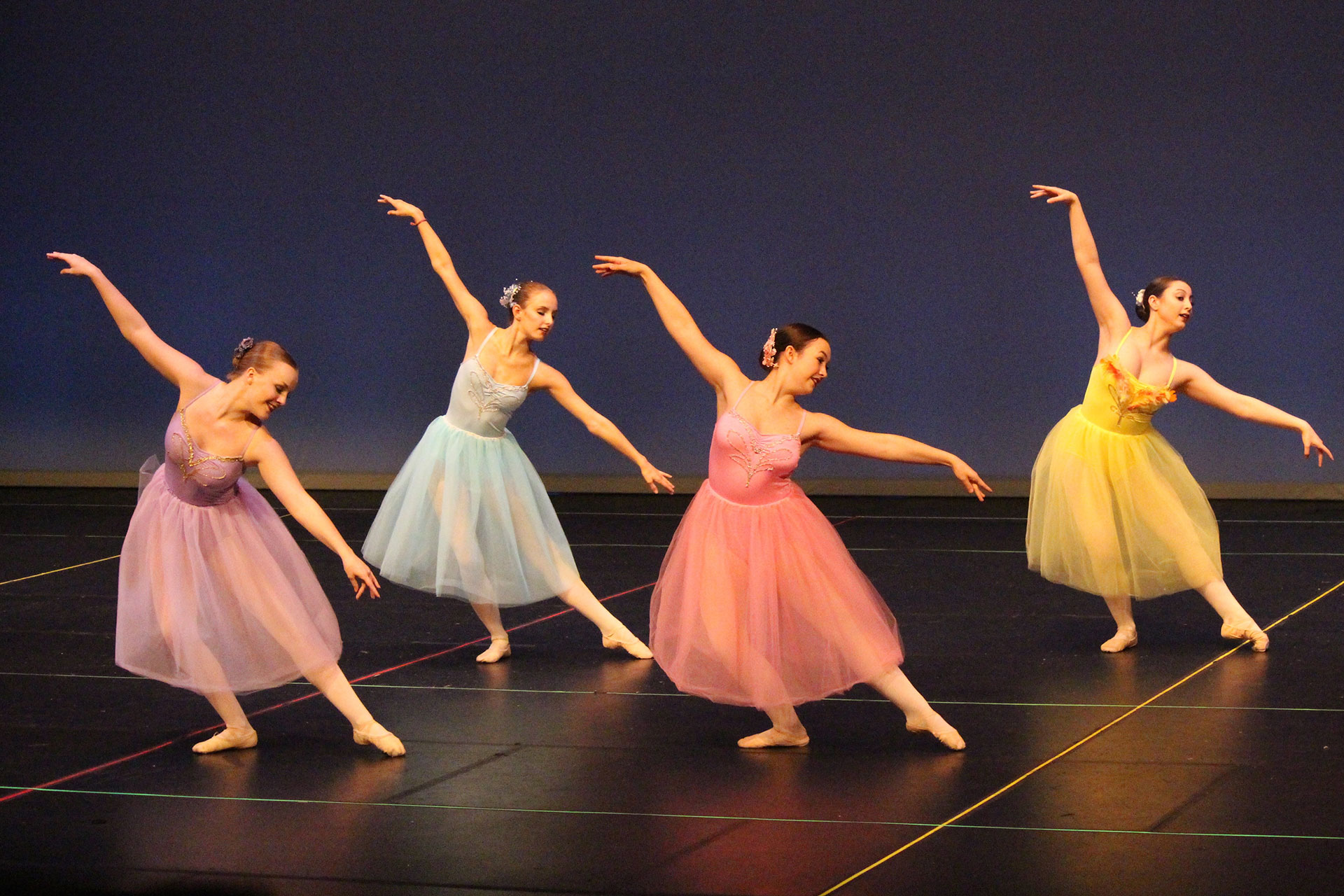 Women performing ballet dance at recital in winnipeg manitoba